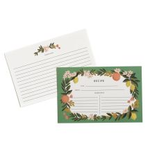 Rifle Paper Co. - Citrus Floral - Package Of 12 Illustrated Recipe Cards