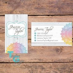 Mandala Business Card - Shabby Chic Business Card  - Rustic Business Card - Rustic Shabby Chic Card - Shabby Chic Marketing - Mandala - Rustic - Boho Business Card - Tribal Business Card - Custom Business Card - Small Business Marketing