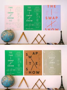 """The Swap Show; an """"exhibition exchange between design studios and creative agencies from cities around the world designed to showcase and celebrate creative work internationally."""""""