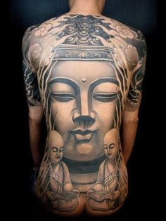 #Buddha #tattoo full back