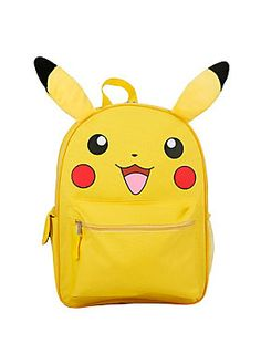 9c8798e9a56f Catch this Pikachu backpack before it s gone! Yellow canvas backpack…  Paddington Bear