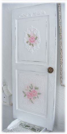 Rococo shabby door French painting.
