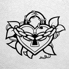 Broken Heart Drawings, Key Drawings, Tattoo Drawings, Body Art Tattoos, Lock Drawing, Drawing Sketches, Doodle Tattoo, 1 Tattoo, Heart Lock Tattoo