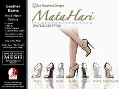 Mata Hari Jeweled Stilettos - Leather Basics Pack   Flickr - Photo Sharing!