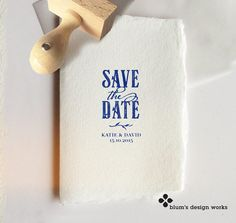 Namen & Monogramme - ♥ Save the Date Stempel für Einladungskarten ♥ - ein Designerstück von blumsdesign bei DaWanda