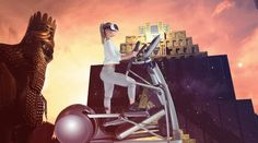 #Deportes #deporte #realidad_virtual Realidad Virtual para hacer ejercicio en cualquier escenario