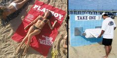 Playboy Beach Towel - 10 Creative Beach Towels