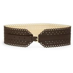 Kate Spade New York Perforated Leather Corset Belt