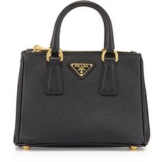 b9e4225d8d60 Prada Saffiano Mini Galleria Crossbody Bag ($1,060) ❤ liked on Polyvore  featuring bags,