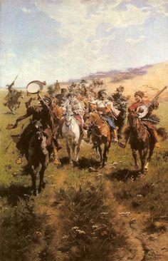 Cossack's Wedding - Jozef Brandt