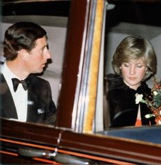1982-03-14 Diana and Charles depart the Royal Albert Hall after a concert of Berlioz Music
