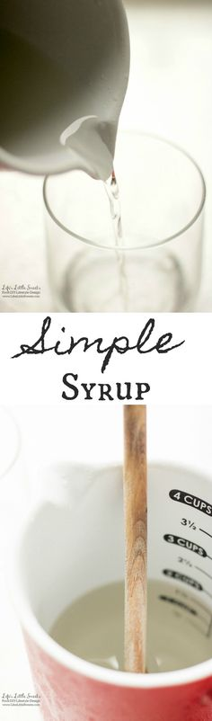 (V, GF) This basic Simple Syrup recipe is a basic ingredient for many drink recipes. It only takes minutes to prepare with 2 ingredients!