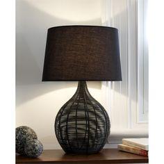 Rouge Living 57cm Black Acacia Table Lamp