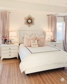 Want to create a romantic bedroom? These romantic bedroom ideas are full of easy-to-recreate decorating tips and design ideas. Dream Rooms, Dream Bedroom, Home Decor Bedroom, Bedroom Bed, Blush Bedroom Decor, Bedroom Comforters, Bedroom Headboards, Shabby Bedroom, Bedroom Rugs