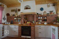 V chalupářském stylu - Barbora Žáková Farms Living, Sweet Home, Kitchen Cabinets, Home And Garden, Cottage, Rustic, Living Room, Interior Design, Architecture