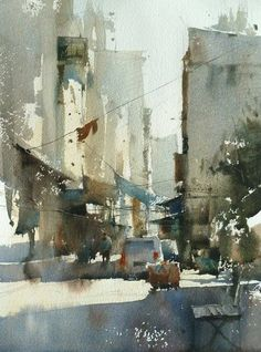 Chien Chung Wei's Watercolor Demo at workshop in Istanbul.
