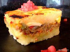 Pastelón de Yuca y Pollo (Baked Yuca Pie) - Hispanic Kitchen Mi preferido! Comida Boricua, Boricua Recipes, Mexican Food Recipes, Puerto Rican Cuisine, Cuban Cuisine, Pozole, Pan Dulce, Tamales, Spanish Dishes