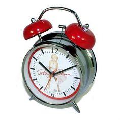 Marilyn Monroe Retro Alarm Clock, http://www.amazon.com/dp/B004D1VVU0/ref=cm_sw_r_pi_awdm_vqH1sb002SDG5
