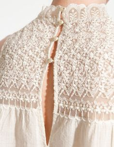 TOP WITH LACE FRONT - Last sizes - TRF - ZARA United States