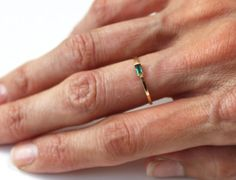 The modern take ring on the finger