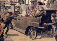 Stamp: Assassination of Archduke Franz Ferdinand in Sarajevo (Senegal) (Centenary of the Beginning of World War I) Mi:SN