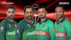 PAK vs BAN Dream 11 team Today Match 43 World Cup 2019: Pakistan vs Bangladesh Dream 11 Tips Cricket Tips, Icc Cricket, Cricket Match, One Day Match, Pakistan Vs, Cricket World Cup, Best Player, Dream Team, Horns
