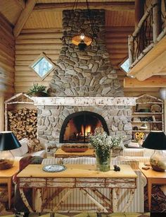 Now this will keep you warm! Great #fireplace.