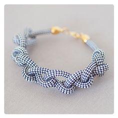 Armband, geflochten aus einem Segelseil // Braided bracelet by alexascha-handmade via DaWanda.com