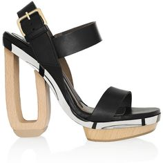 Marni Leather and wood sandals