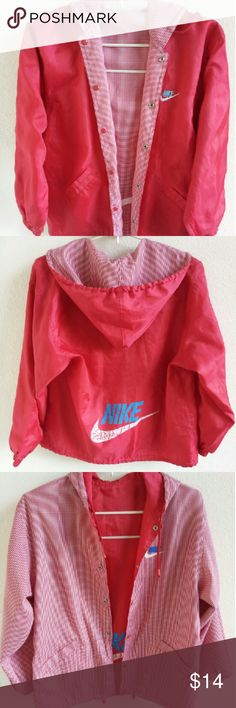 Old School Nike Reversable Jacket Red On One Side. Red & White On Other Swoosh Logos Have Slightly Faded. No Trades This Item Is From A Smoking Home. Accepting Reasonable Offers. Thank You For Visiting Our Closet Nike Jackets & Coats