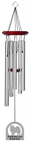 Chimesofyourlife E4265 Wind Chime  American Eskimo DogSilver  19Inch -- To view further for this item, visit the image link.