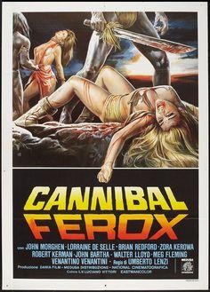 Cannibal Ferox exploitation/horror movie poster