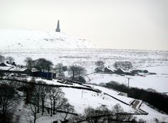 Snowy landscape with Stoodley Pike