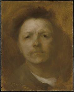 Eugène Carrière (1849 – 1906). Self-Portrait, 1893, Oil on canvas, 41.3 x 32.7 cm | The Metropolitan Museum of Art