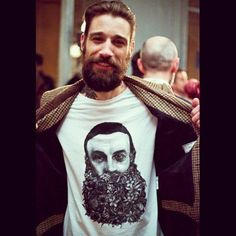 look, I love beards so much I bought a beard shirt!