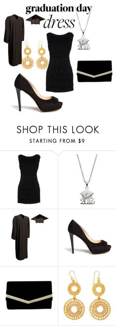 """Graduation Day Dress"" by shescomeundone ❤ liked on Polyvore featuring Pierre Balmain, Jimmy Choo, Nina and graduationdaydress"