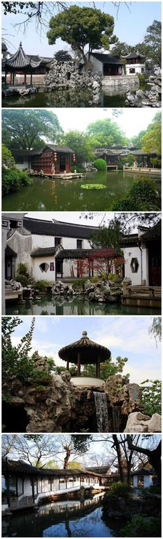 """Suzhou gardens, also known as the classical gardens of Suzhou, is a private garden mainly traditional Han Chinese architecture, described as """"recycling the universe are within easy reach,"""" is the Chinese garden and a leader in the Southern Gardens and pride. #chinesearchitecture #chinadestination"""