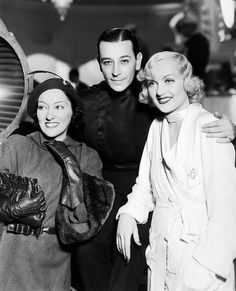 Gloria Swanson, George Raft and Carole Lombard by Vintage-Stars, via Flickr