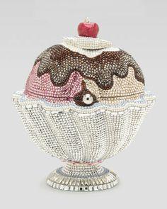 Hot Fudge Ice Cream Sundae Minaudiere by Judith Leiber at Neiman Marcus.