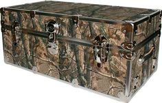 Rhino Trunk and Case Large Armor Trunk Color: Realtree AP Camo, Tray: Hardwood Tray - Large Camo Rooms, Dorm Rooms, Camo Girls Room, Kids Rooms, Camo Furniture, Hunting Camo, Women Hunting, Hunting Stuff, Hunting Clothes