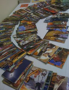 My SoulCollage cards on display at a workshop (Maggie Yowell)