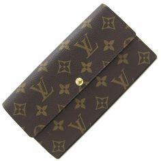 9080ac8ad4df5 (eBay Ad) Louis Vuitton Monogram Bi-folded Long Wallet Portofouille Sarah  Long Wallet