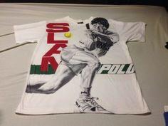 Vtg Ralph Lauren POLO Sport Slam Tennis Rare T-Shirt XL not Stadium Or Pwing