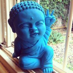 Buddha hand painted by elebea Buddha Kunst, Buddha Zen, Baby Buddha, Arm Tattos, Little Buddha, Spiritual Images, Beautiful Soul, Sculpture, Artwork