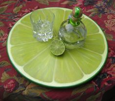 Items similar to Lime Slice Lazy Susan, Wood Turntable Centerpiece on Etsy