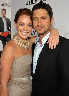 Katherine Heigl and Gerard Butler at event of The Ugly Truth