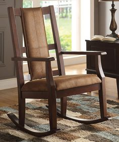 Look at this #zulilyfind! Espresso Butsea Rocking Chair #zulilyfinds
