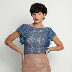 Bonnie Top Blue Belle, $109, now featured on Fab.