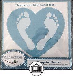 Footprint Canvas, Blue by Perine Lowe Inc.  ✿ Regalos para recién nacidos - Bebes ✿ ▬► Ver oferta: http://comprar.io/goto/B011X776QO
