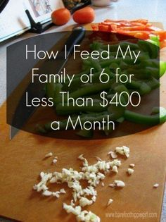 How I feed my family of 6 for less than $400 a month. Simple way to meal plan on a budget.